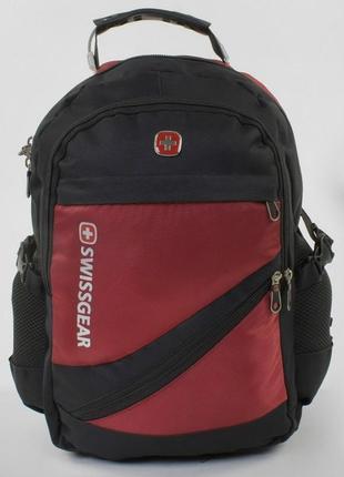 Школьный рюкзак для мальчика черно красный swissgear 3421-41