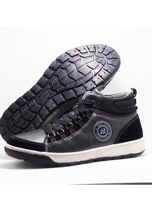Ботинки подростковые зимние кожаные спортивные bona на меху р. 36-41