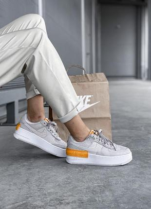Кроссовки nike air force grey