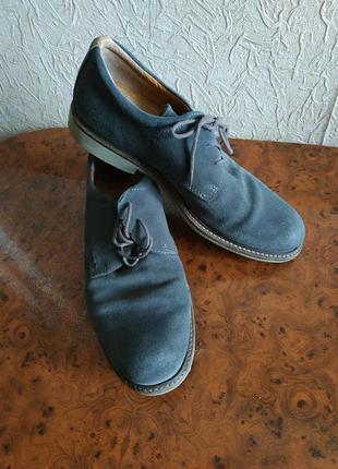 Туфли замшевые 42р ecco