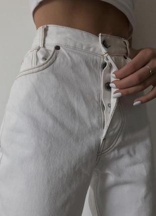 Белые mom jeans