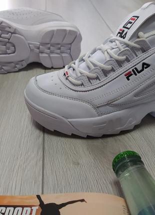 Женские кроссовки fila белые