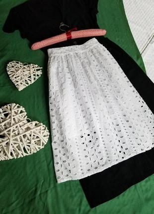 🌺 очень красивая кружевная юбка миди