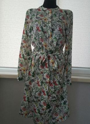 Платье легкое с длинными рукавом