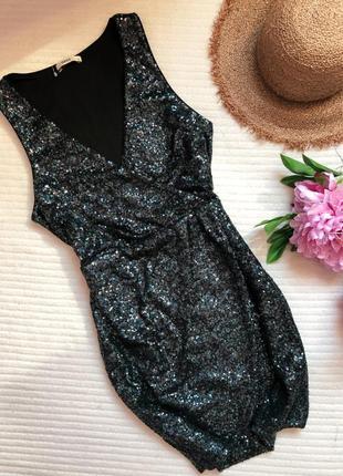 Праздничное платье на запах