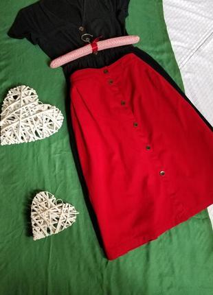 🌺  базовая юбка миди с пуговицами