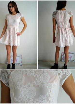 Нежное кружевное платье h&m