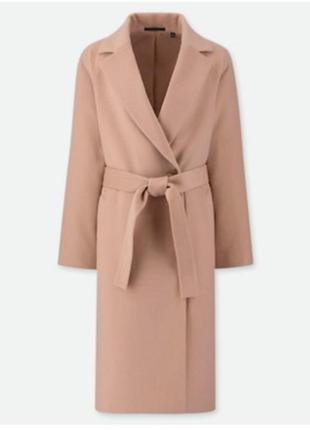Пальто женское шерстяное uniglo, l