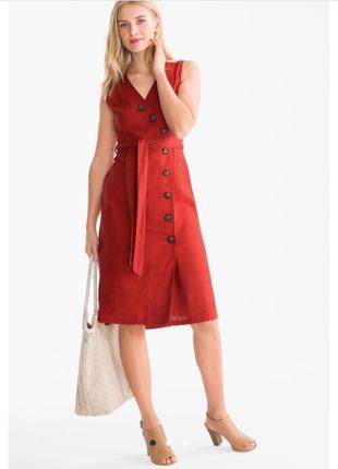 Стильное платье лен, коттон
