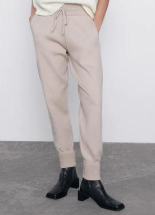 Стильні джогери брюки штани zara бежеві чорні сірі s m тренд 2020
