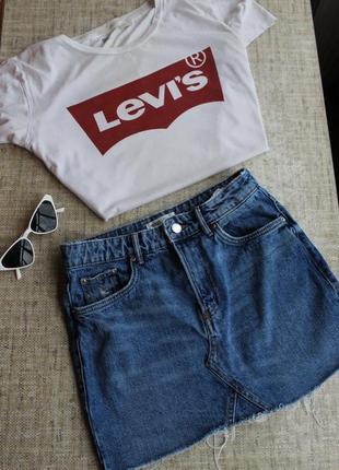 Zara, джинсовая,юбка, спідниця, джинсова, короткая