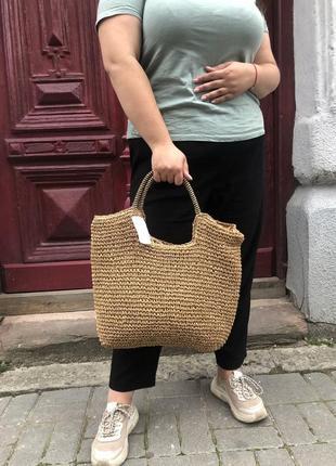 Соломенная сумочка, сумка из соломы