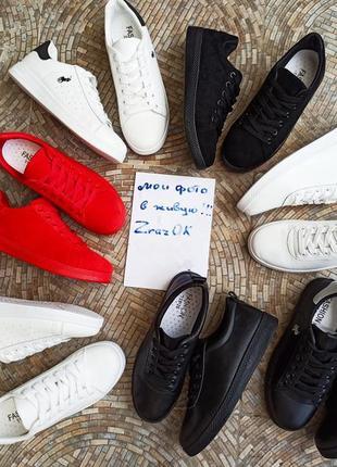 Черные кеды кроссовки туфлислипоны мокасины эко кожаные5 фото