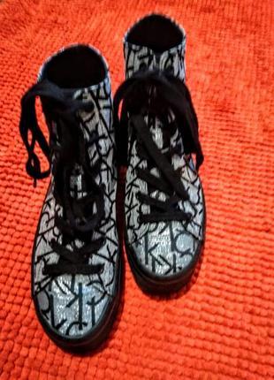Стильные высокие кеды ботинки   calvin klein