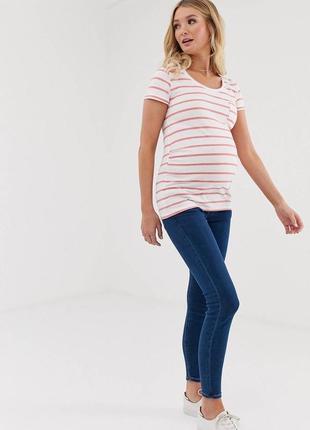 Синие джинсы скинни для беременных h&m