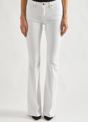 Victoria beckham белые джинсы средняя посадка