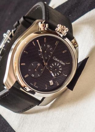 - 58% | мужские швейцарские часы хронограф calvin klein k6z371 (оригинальные, с биркой)