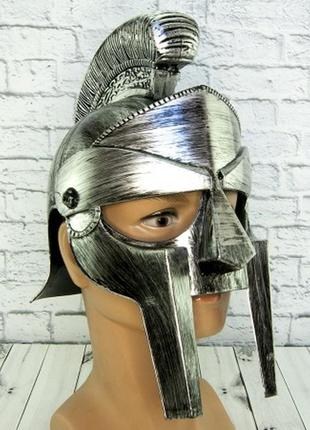 Шлем маскарадный гладиаторский пластиковый