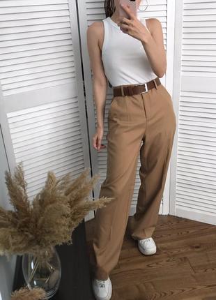 Високі брюки кемел зі стрілками, розкішна класика!3 фото