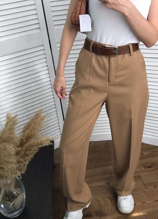 Високі брюки кемел зі стрілками, розкішна класика!