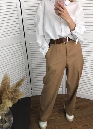 Високі брюки кемел зі стрілками, розкішна класика!5 фото