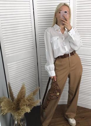 Високі брюки кемел зі стрілками, розкішна класика!7 фото