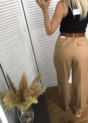 Високі брюки кемел зі стрілками, розкішна класика!6 фото