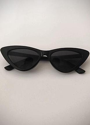 Нові темні стильні окуляри-лисички. очки чорні стиль glasses