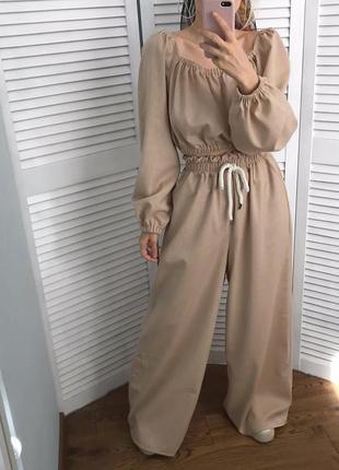 Ексклюзивний натуральний костюм, льон/бавовна. єдиний екземпляр!