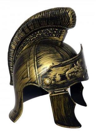 Шлем легионера маскарадный пластиковый золотой