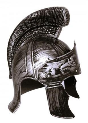 Маскарадный шлем легионера серебряный цвет