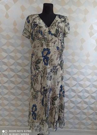 Платье миди натуральный 100% шёлк