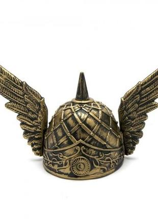 Маскарадный шлем с крыльями цвет золотой
