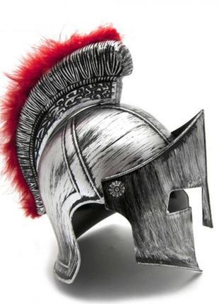 Маскарадный шлем спартанца серебряный
