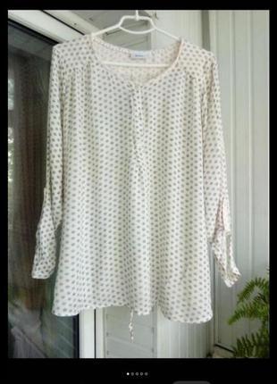 Натуральная вискозная блуза большого размера батал