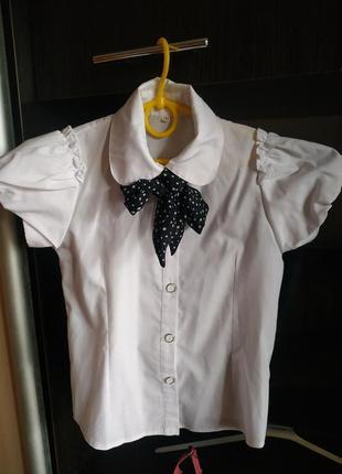 Блузка рубашка 128 см польша