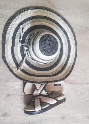 Шикарная летняя пляжная шляпа с большими полями