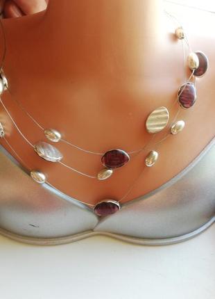 Колье, ожерелье капельки/ бижутерия