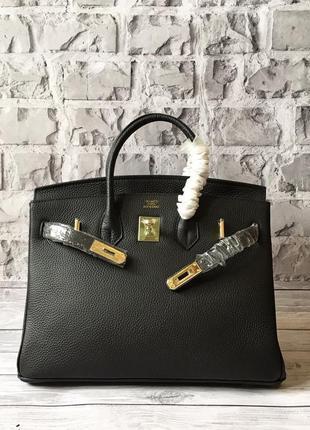 Кожаная премиум сумка hermès birkin