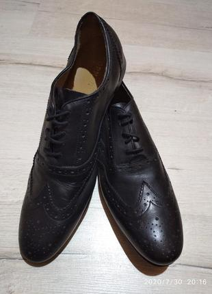 Натур кожа туфли броги большого размера 46р