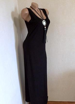 Сарафан,платье,в пол,с разрезом с боку,большой размер.