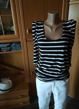 Симпатичная блузочка в полоску р. 16 new look
