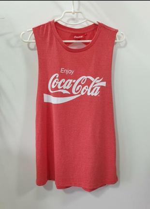 Майка с открытой спиной хлопок coca-cola