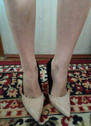 Туфли замш ,каблук 10см