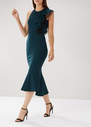 Платье - футляр с рюшами, платье-рыбка coast 12- 14 размер.