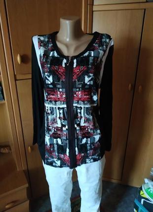100%натуральная ткань!!!красивая дизайнерская кофта, блуза р. 42 laura kent