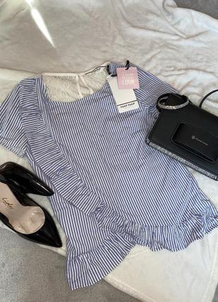 Блузка на короткий рукав футболка с кружевной спиной