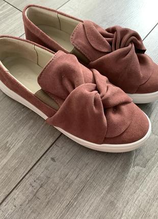 Слипоны 37 размер soldi новые замшевые кожаные туфли мокасины