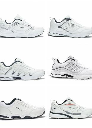 Кожаные белые кроссовки bona.