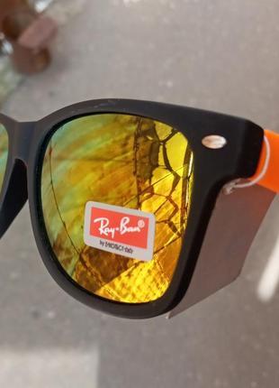 Ray ban вайфареры стильные зеркальные очки унисекс италия распродажа